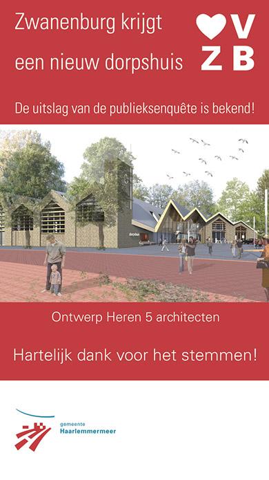 Zwanenburg krijgt een nieuw dorpshuis