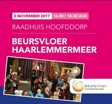 Schrijf je nu in voor de Beursvloer Haarlemmermeer 3 nov a.s.