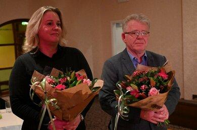 Afscheid van Wim Verlinden & Leonoor Juwett bij Nieuwjaarsreceptie
